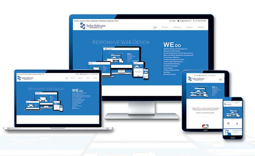 SaihaSoft: Creative design, responsive design, user friendly web application